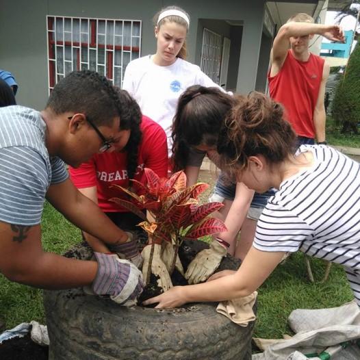 Spanish classes and volunteer work